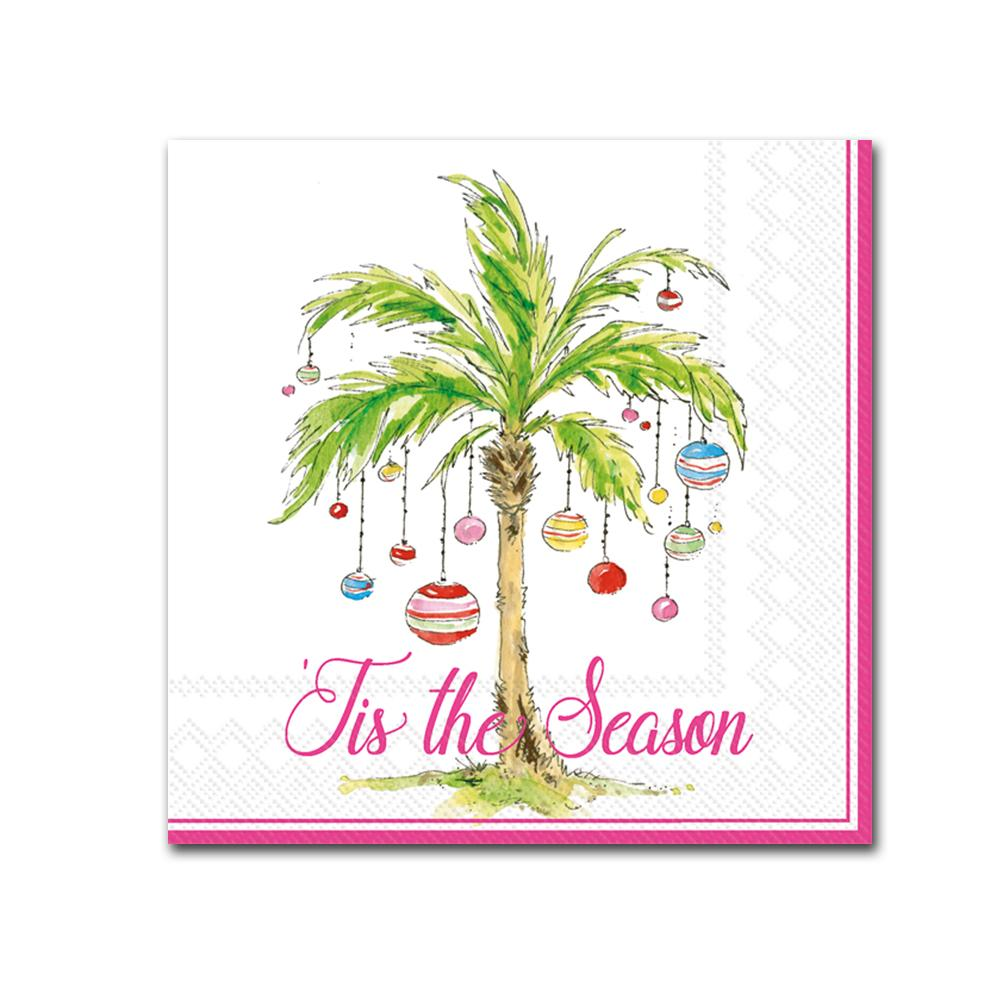 Ornament Palm Trees Paper Beverage Napkins