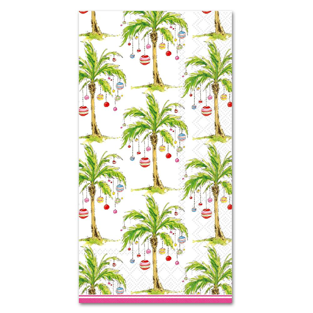 Ornament Palm Trees Paper Guest Towels - Buffet Napkins