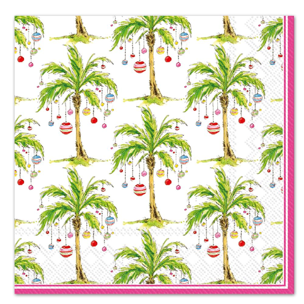 Ornament Palm Trees Paper Luncheon Napkins
