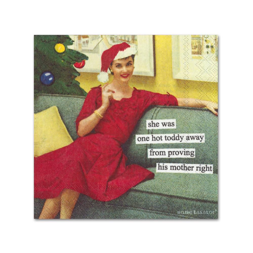 Hot Toddy Funny Cocktail Napkins by Anne Taintor
