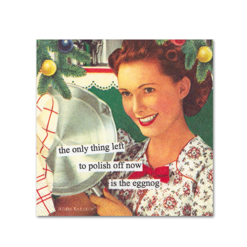 Polish of the Eggnog Funny Cocktail Napkins by Anne Taintor