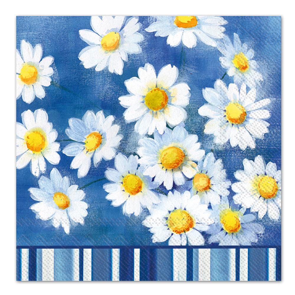 Agnetha Blue Floral Paper Luncheon Napkins