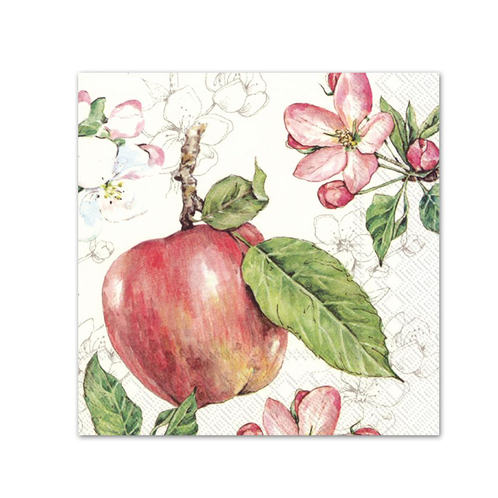 Apples & Blossoms Paper Beverage Napkins
