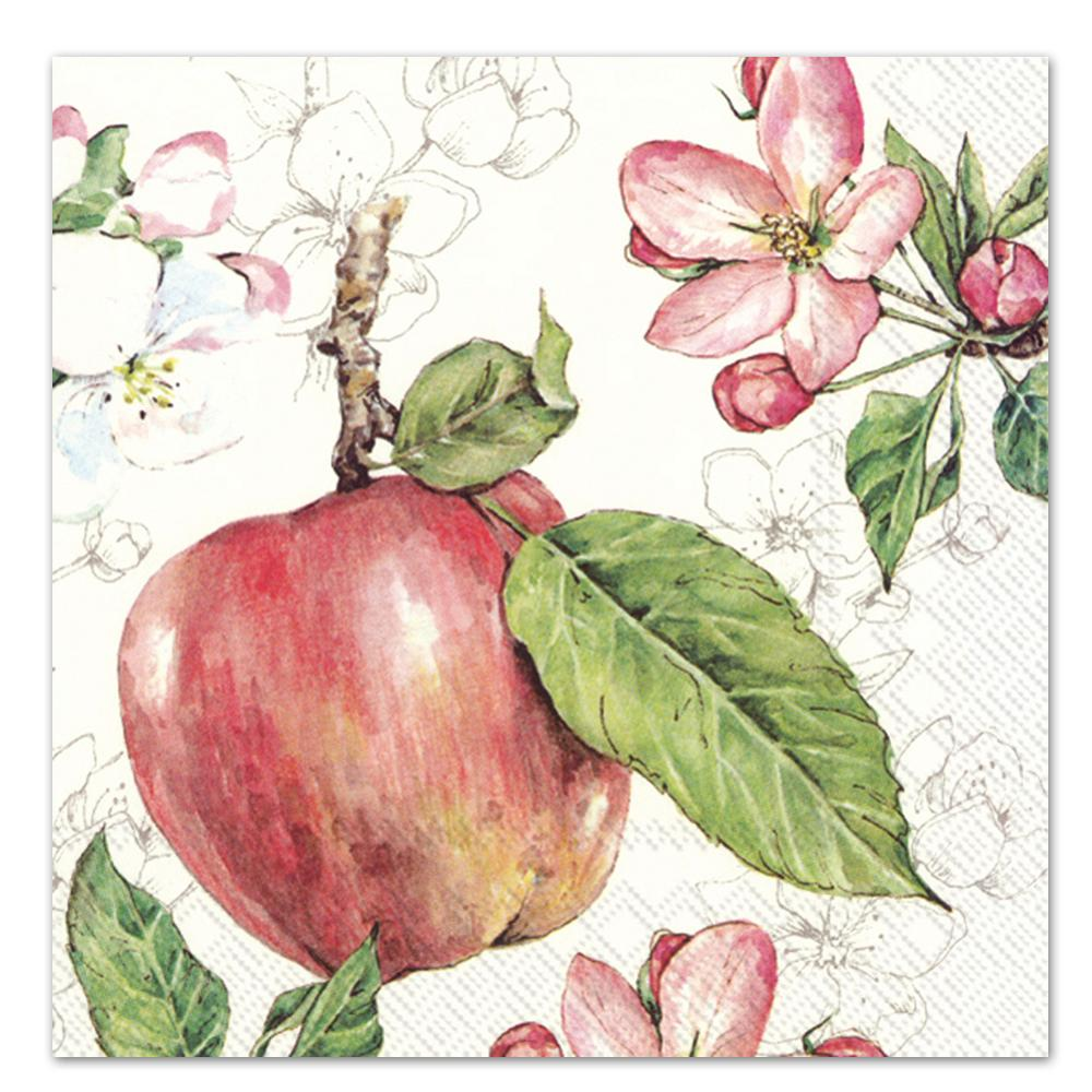 Apples & Blossoms Paper Luncheon Napkins