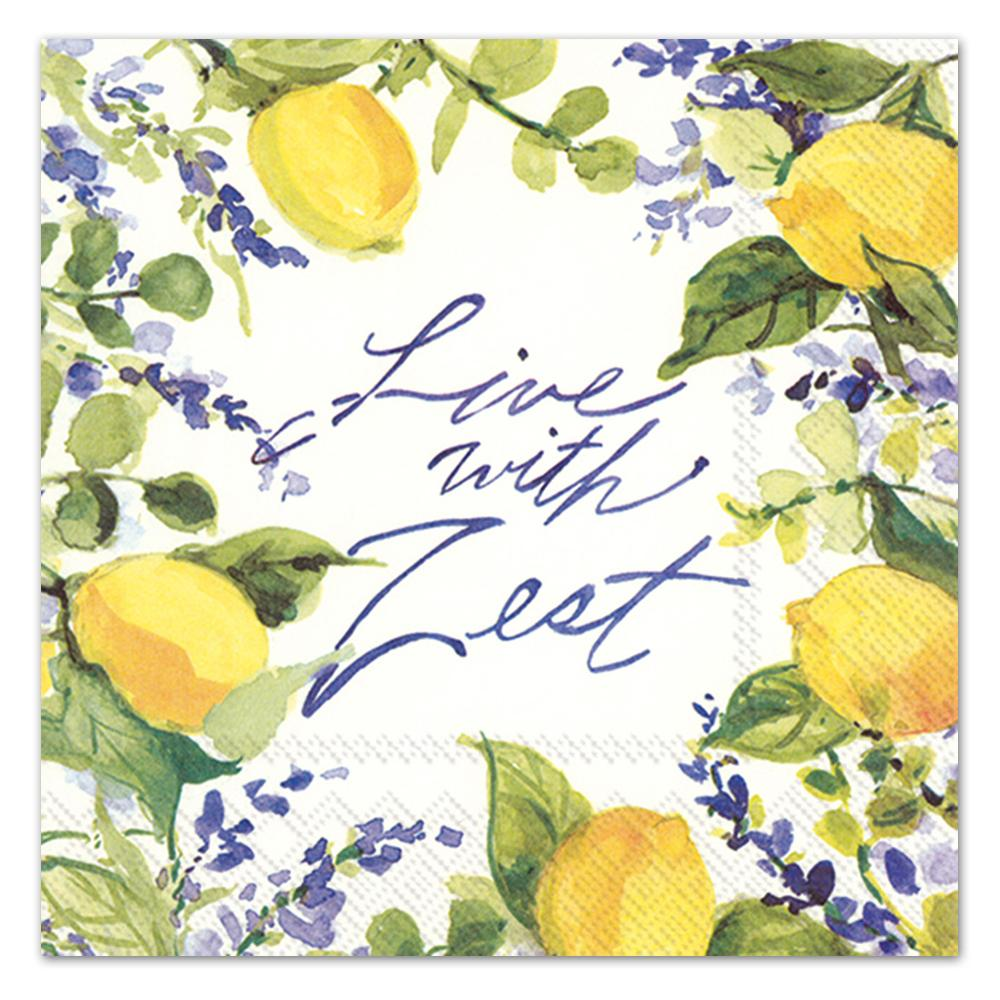 Lemons - Live with Zest Paper Luncheon Napkins