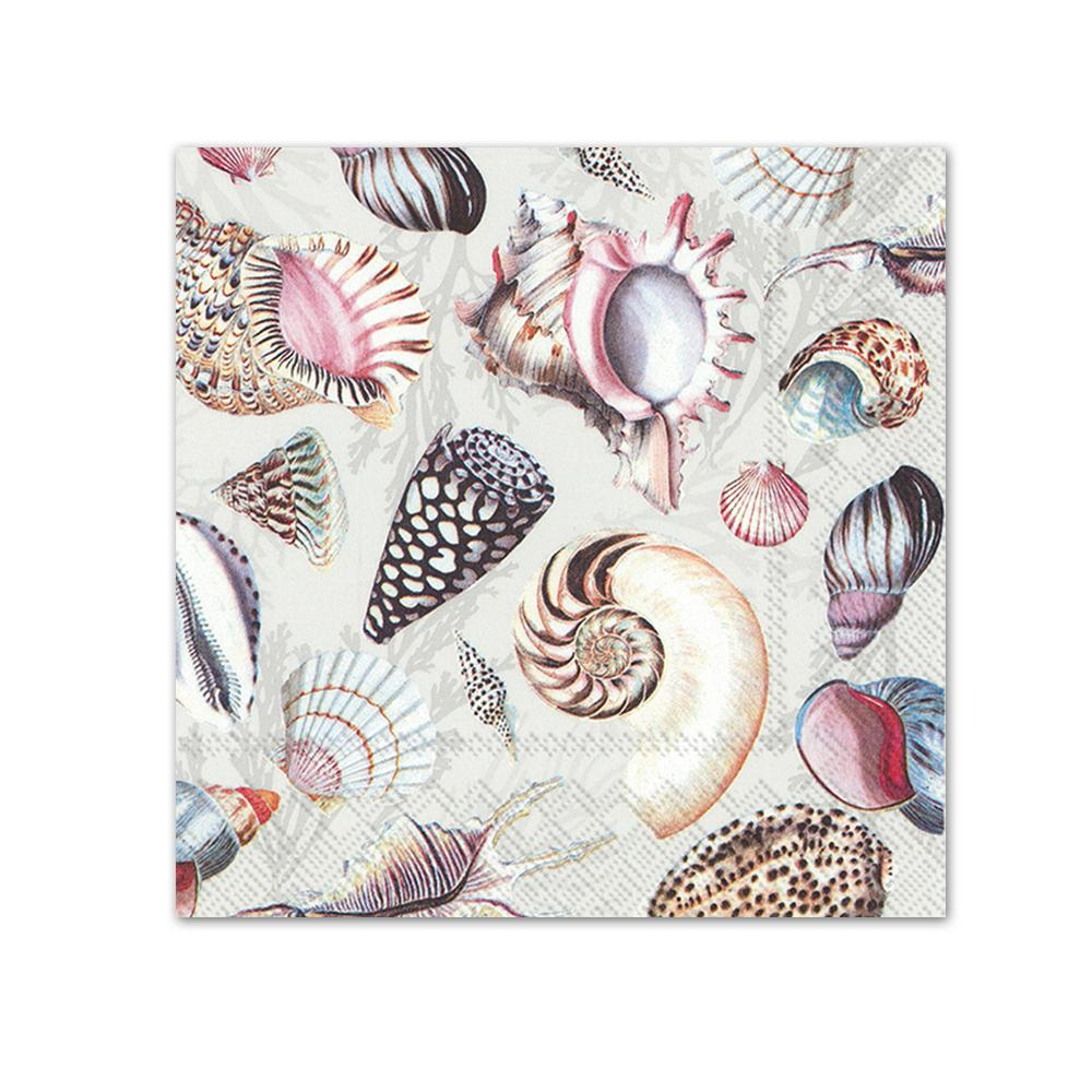 Shells Of The Sea Paper Beverage Napkins