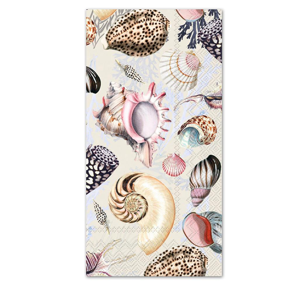 Shells Of The Sea Paper Guest Towels - Buffet Napkins