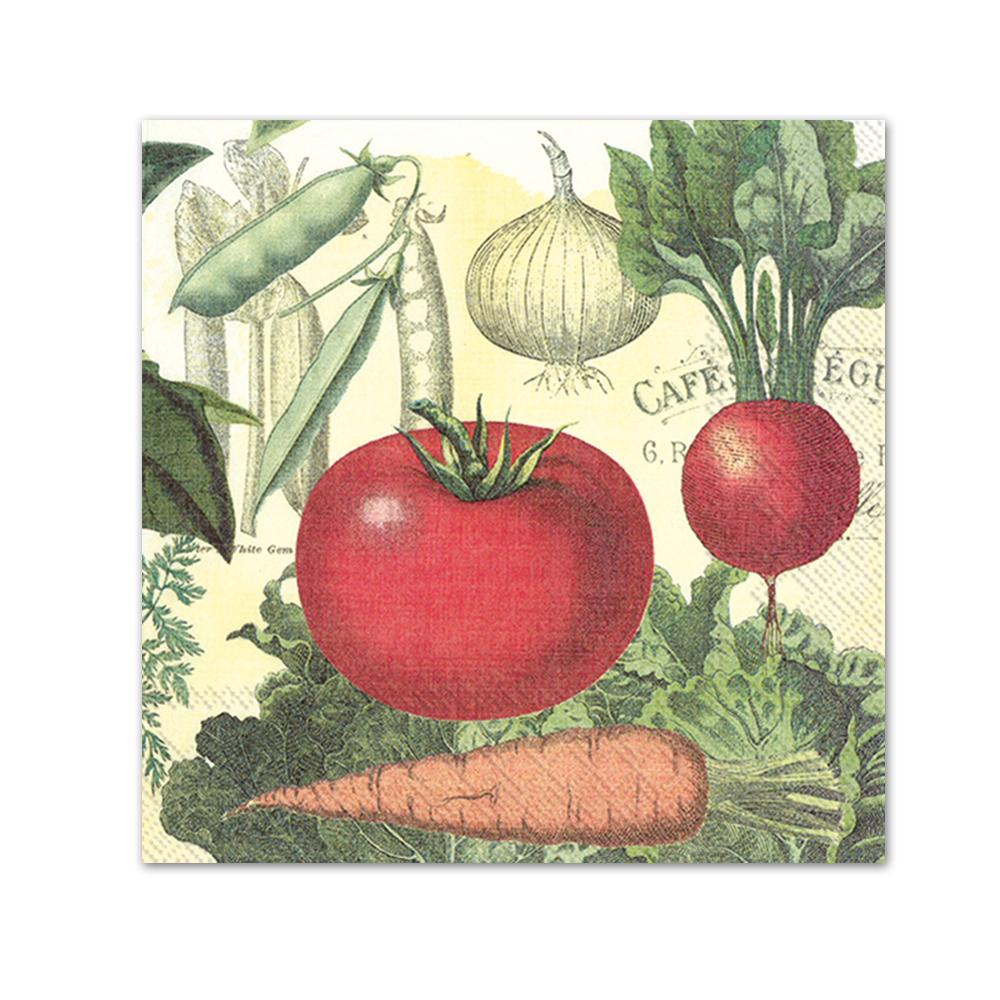 Culinary Vegetables Paper Beverage Napkins