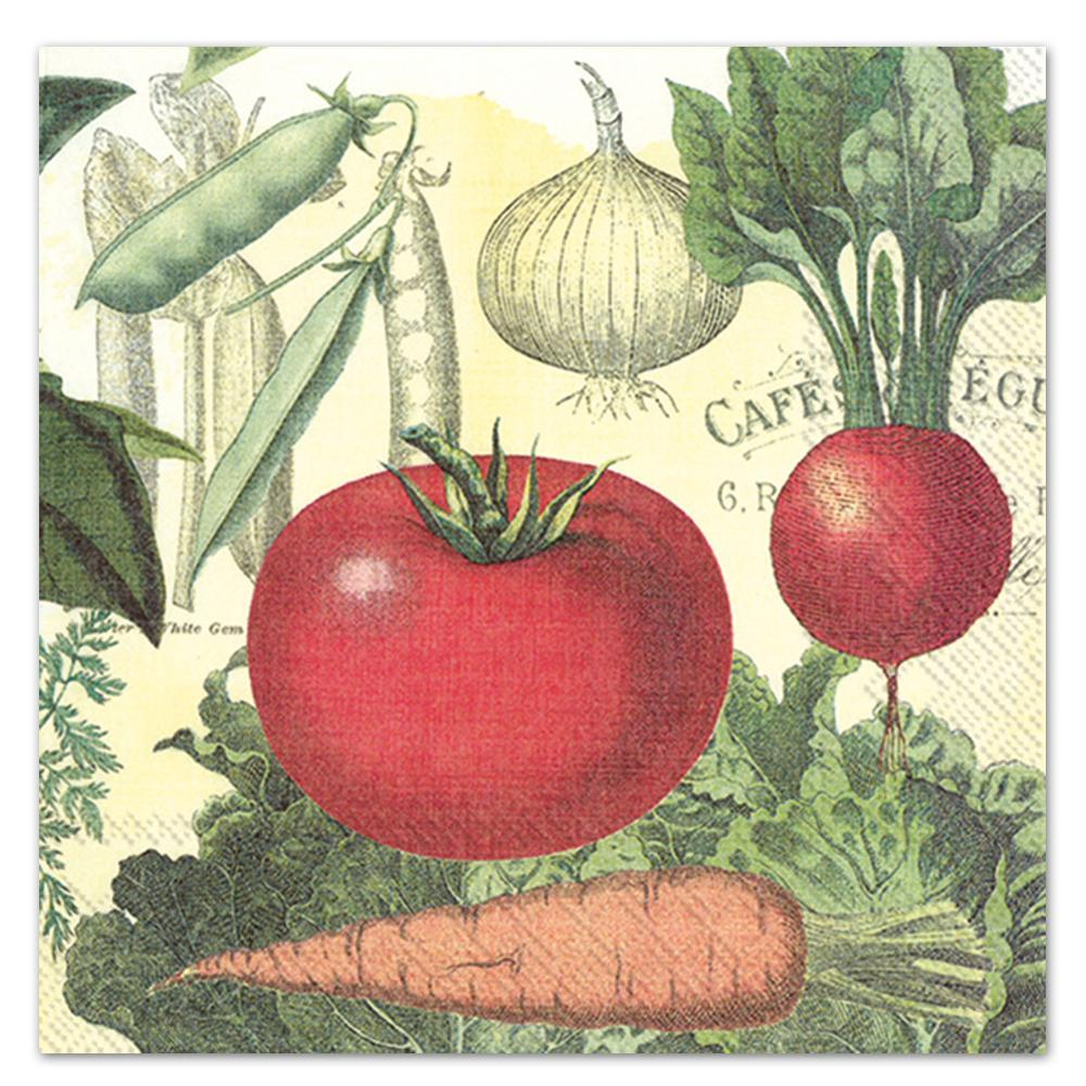 Culinary Vegetables Paper Luncheon Napkins