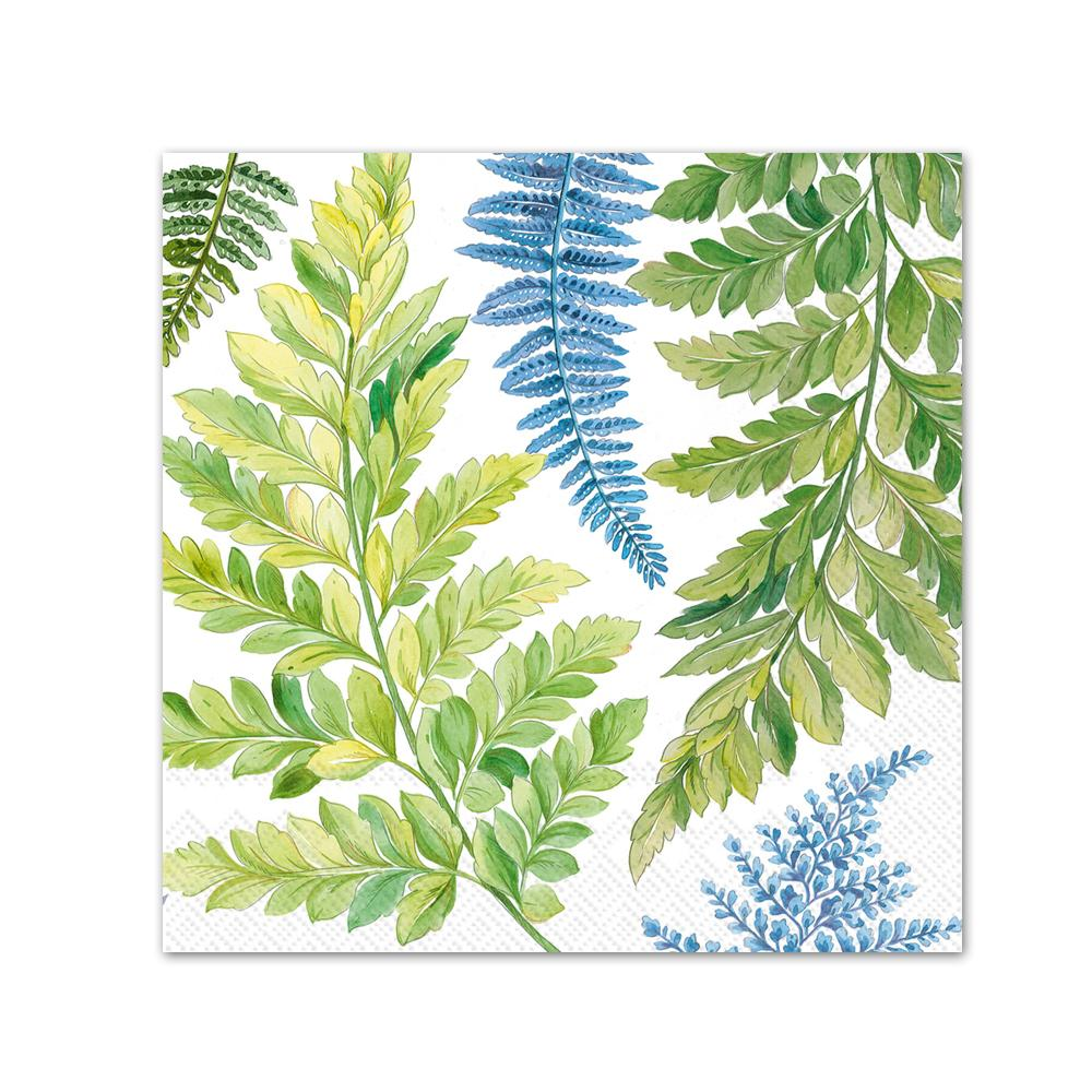 Arwea Botanical Ferns Paper Beverage Napkins