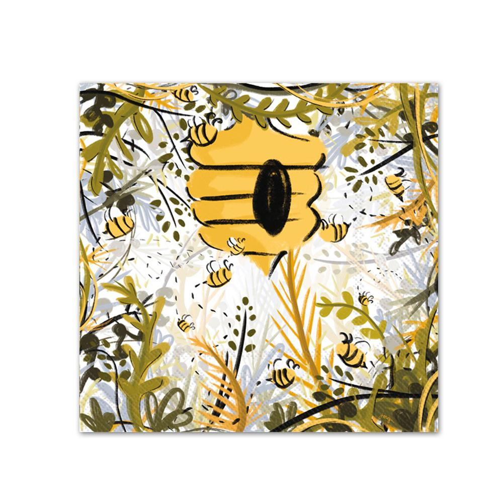 Honey Bee Haven Paper Beverage Napkins
