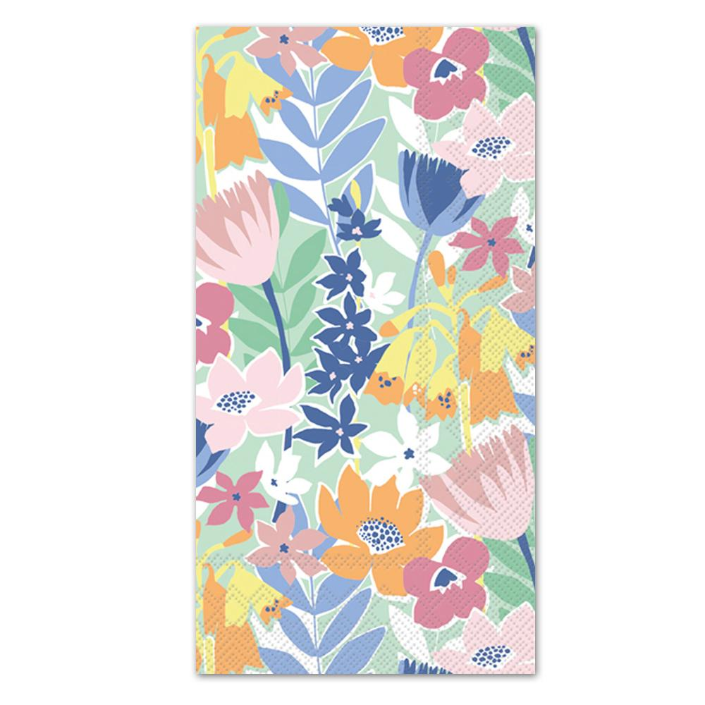 Flower Collage Paper Guest Towels - Buffet Napkins