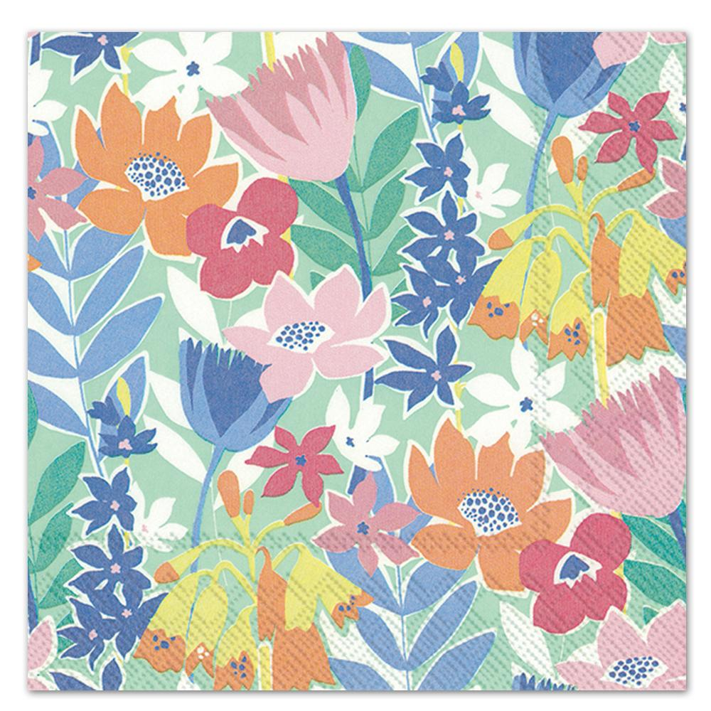 Flower Collage Paper Luncheon Napkins