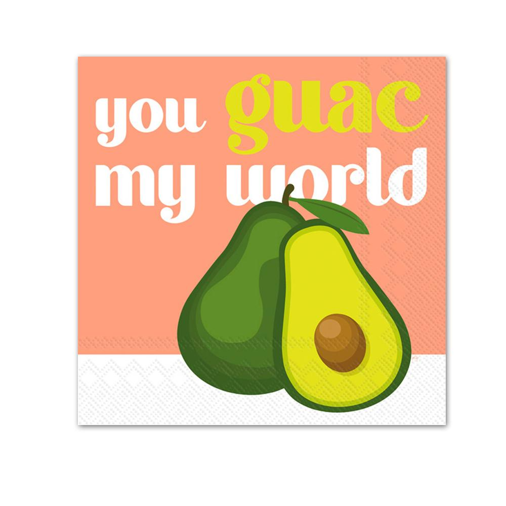 Guac My World Paper Beverage Napkins