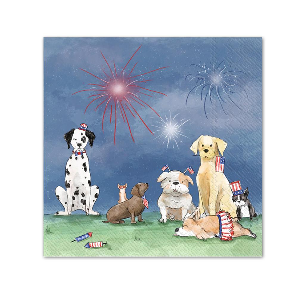 Patriotic Pups Paper Beverage Napkins