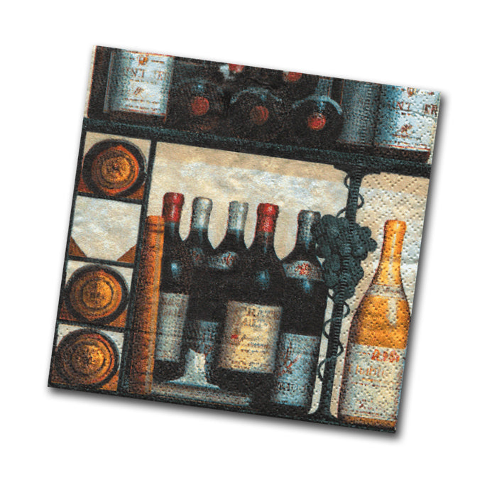 The Wine Cellar Paper Napkins - Beverage