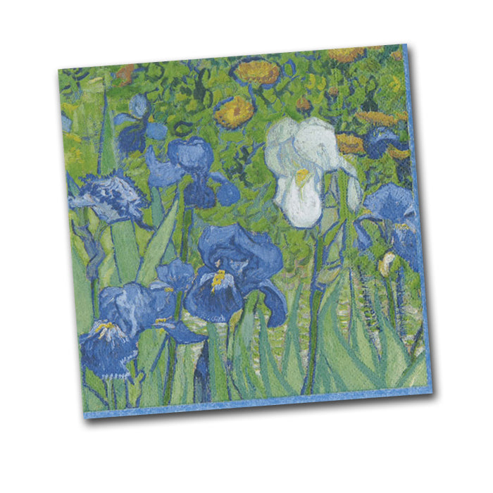 Irises by Van Gogh Paper Napkins - Beverage