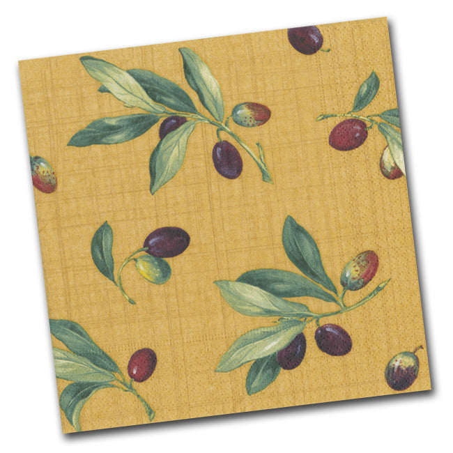 Olive Grove Luncheon Napkins - Ochre