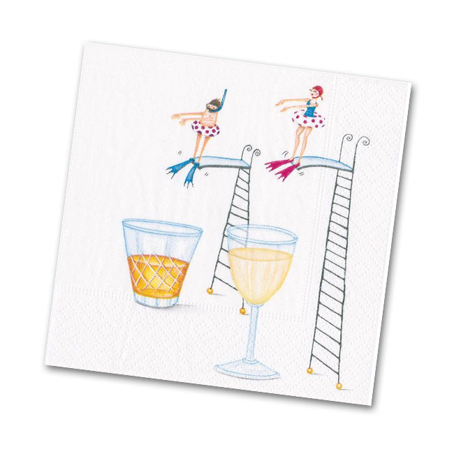 Dive In Whimsical Cocktail Napkins