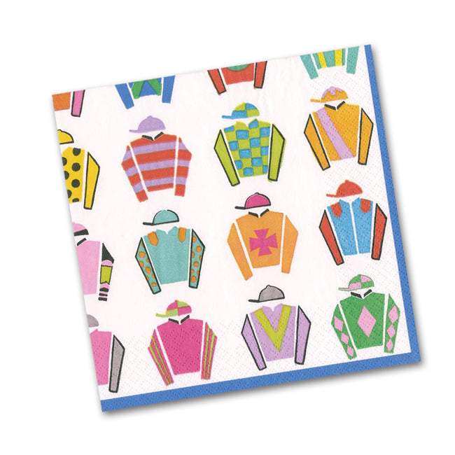 Jockey Silks Paper Beverage Napkins