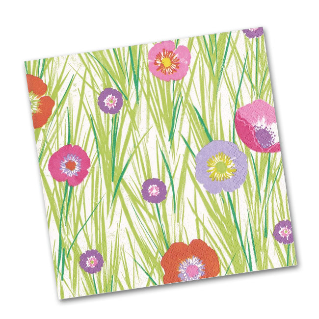 Flowers and Grasses Beverage Napkins