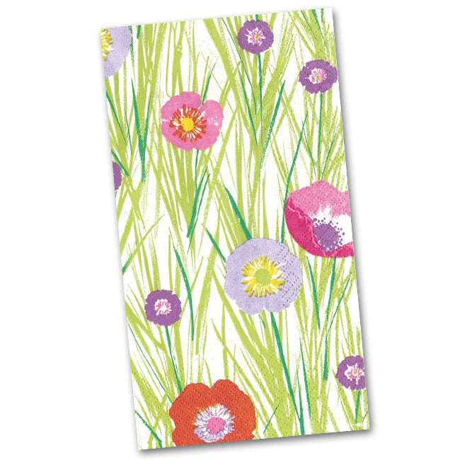 Flowers and Grasses Paper Guest Towels - Napkins