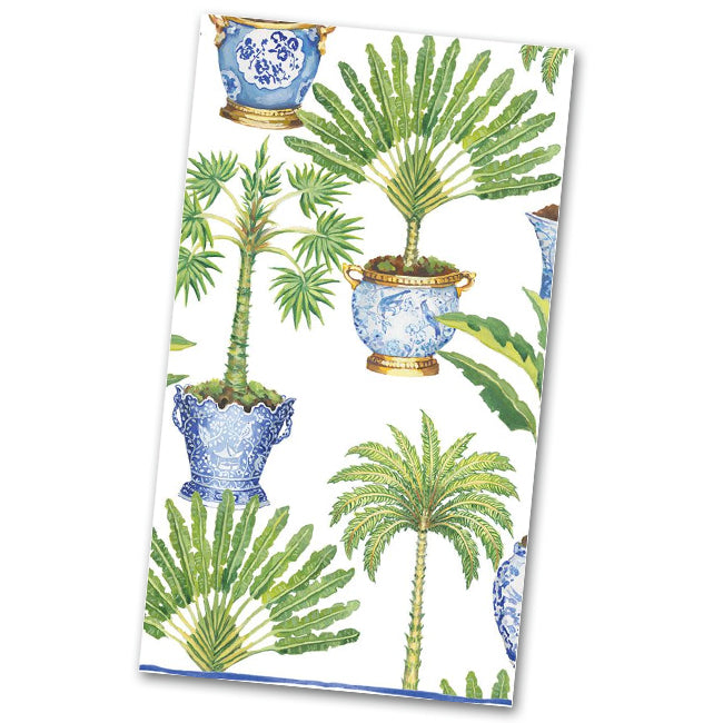 Potted Palms White Paper Guest Towels - Napkins