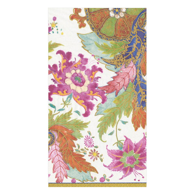 Tobacco Leaf Ivory Paper Guest Towels - Napkin