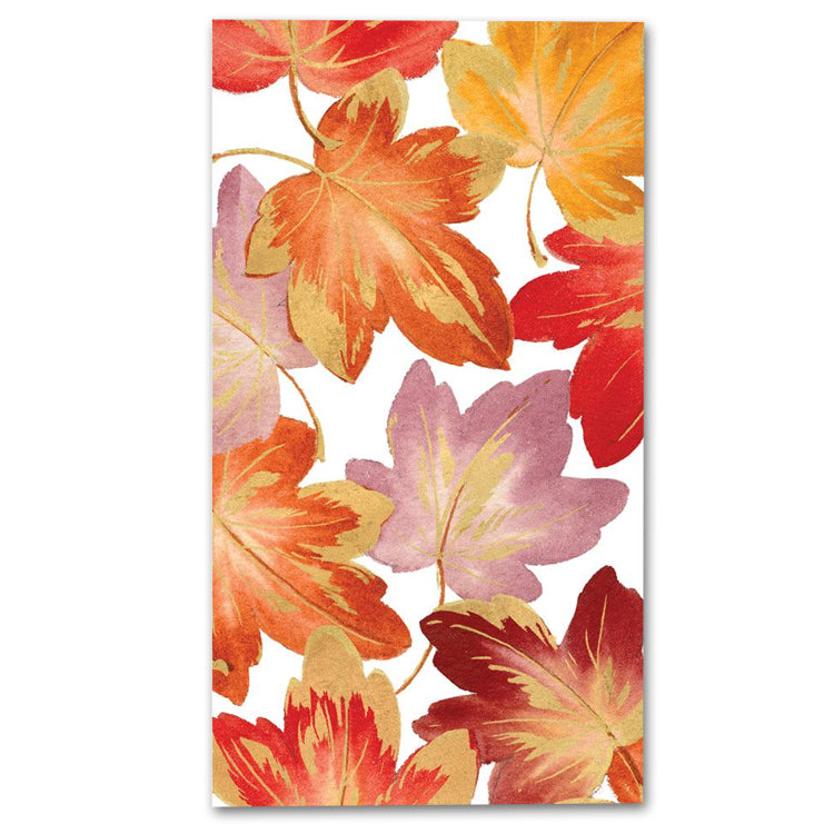 Fallen Leaves Paper Guest Towels - Buffet Napkins