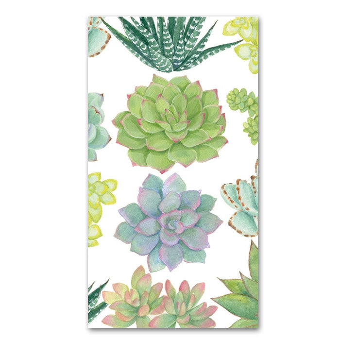Succulents Paper Guest Towels - Buffet Napkins