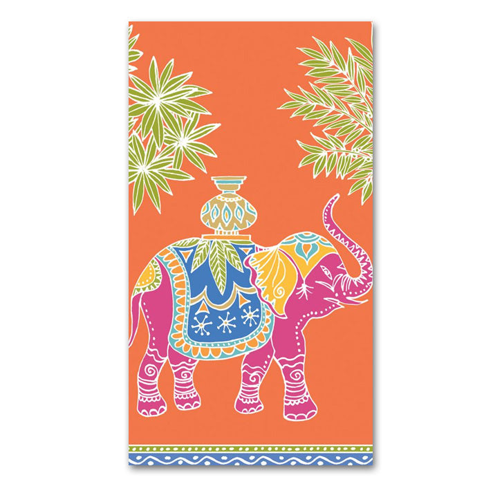 Royal Elephant Orange Paper Guest Towels - Buffet Napkins