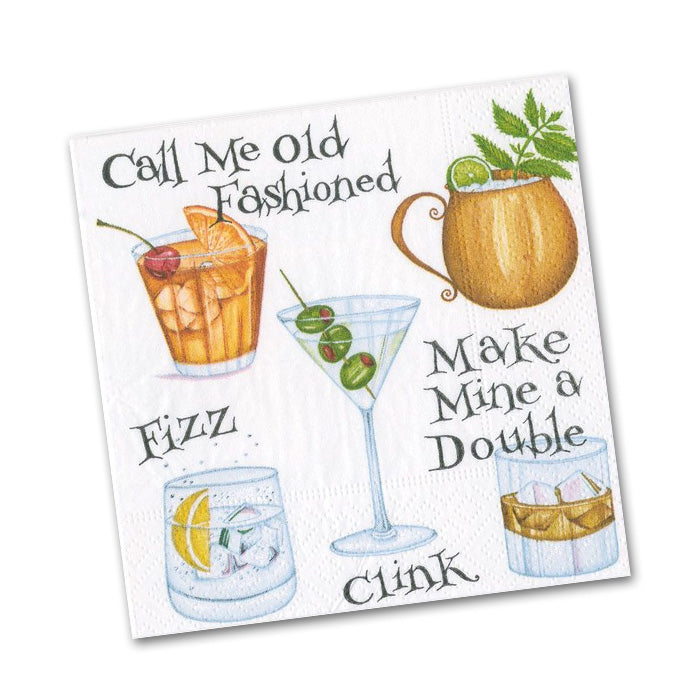 Cocktail Hour Paper Beverage Napkins