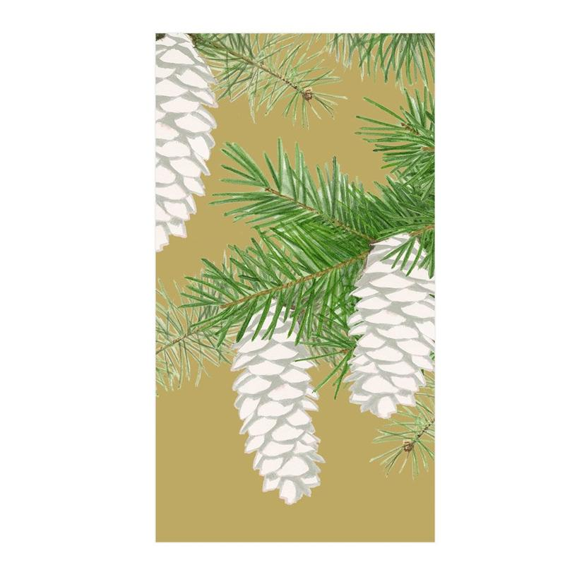 Pinecones Gold Guest Towels - Buffet Napkins
