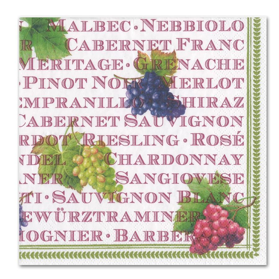 Wine Vintages Luncheon Napkins
