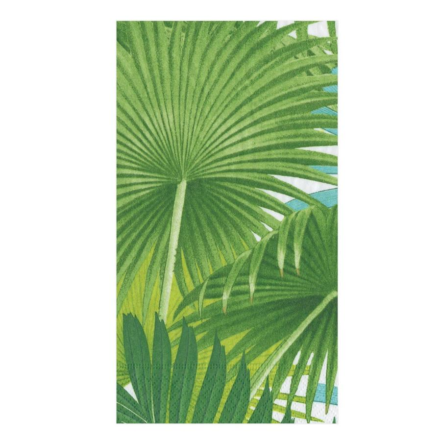 Palm Fronds White Guest Towels - Buffet Napkins