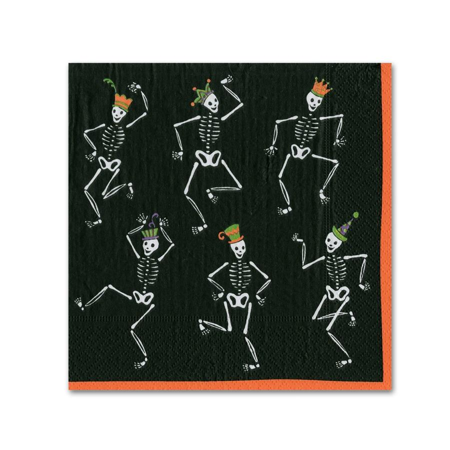 Dancing Skeletons Halloween Paper Beverage Napkins