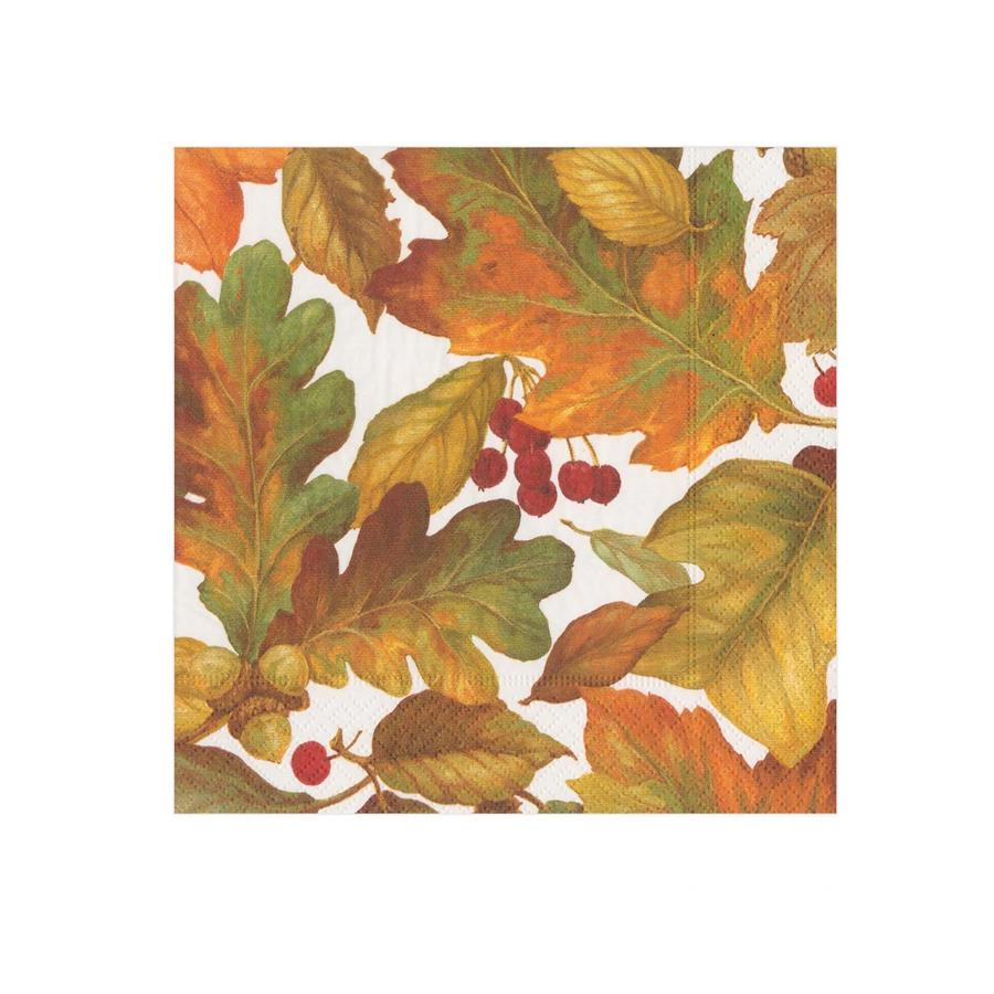 Autumn Leaves II Paper Beverage Napkins