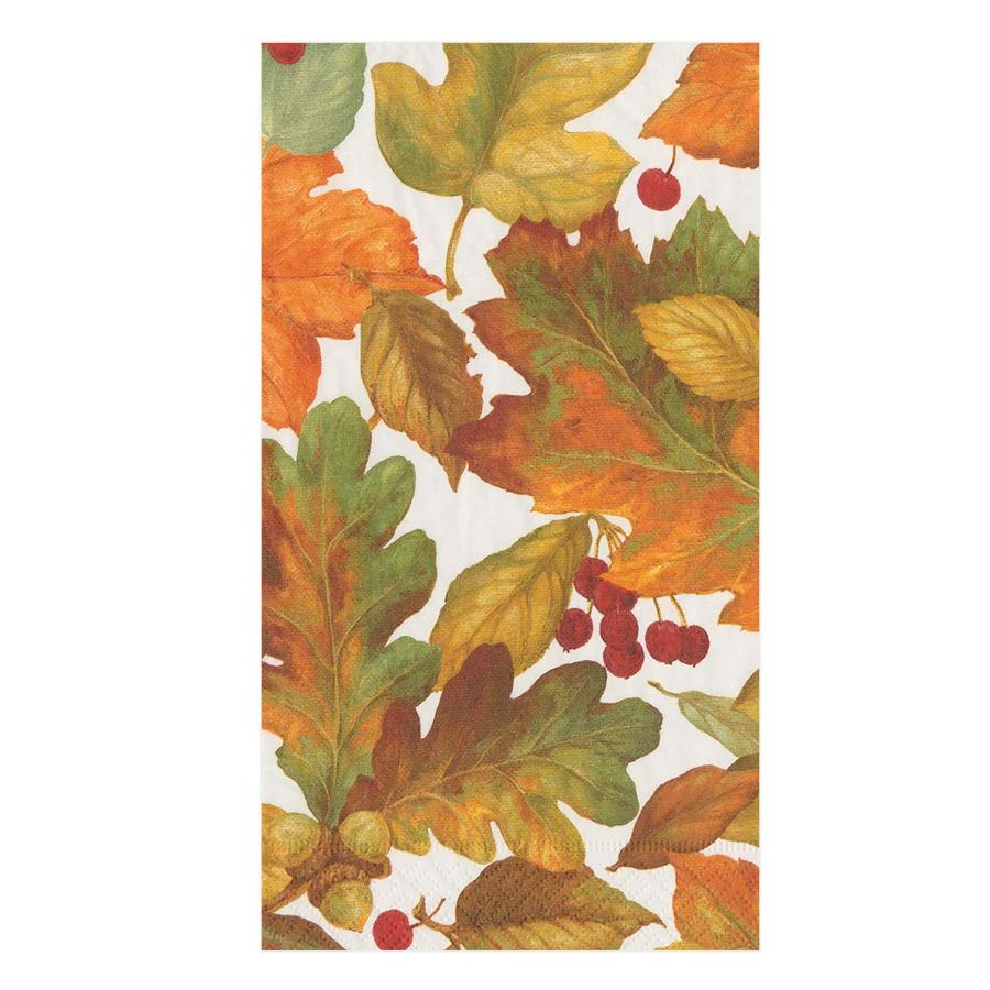Autumn Leaves II Paper Guest Towels - Buffet Napkins