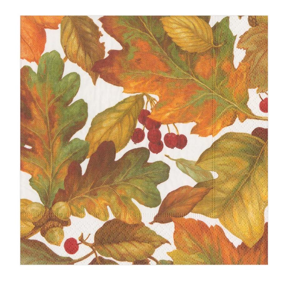 Autumn Leaves II Paper Luncheon Napkins