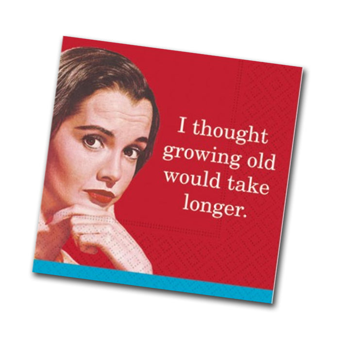 Growing Old Funny Cocktail Napkins