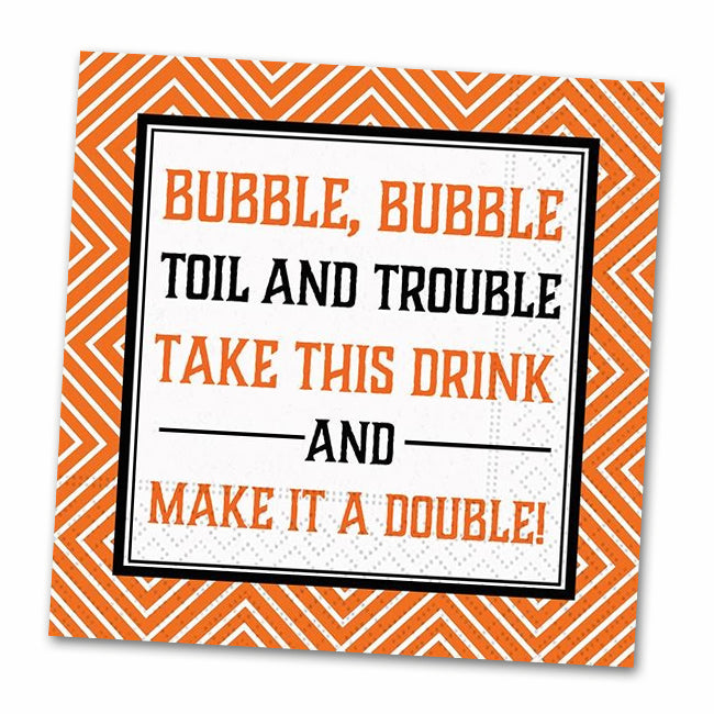Toil and Trouble Funny Cocktail Napkins