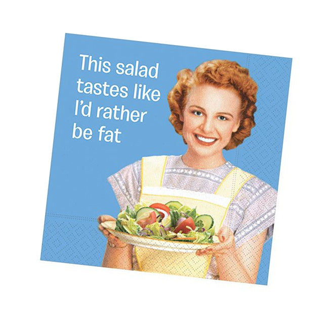 I'd Rather Be Fat Funny Cocktail Napkins