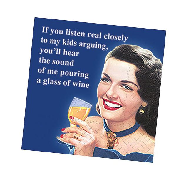If You Listen Real Closely Funny Cocktail Napkins