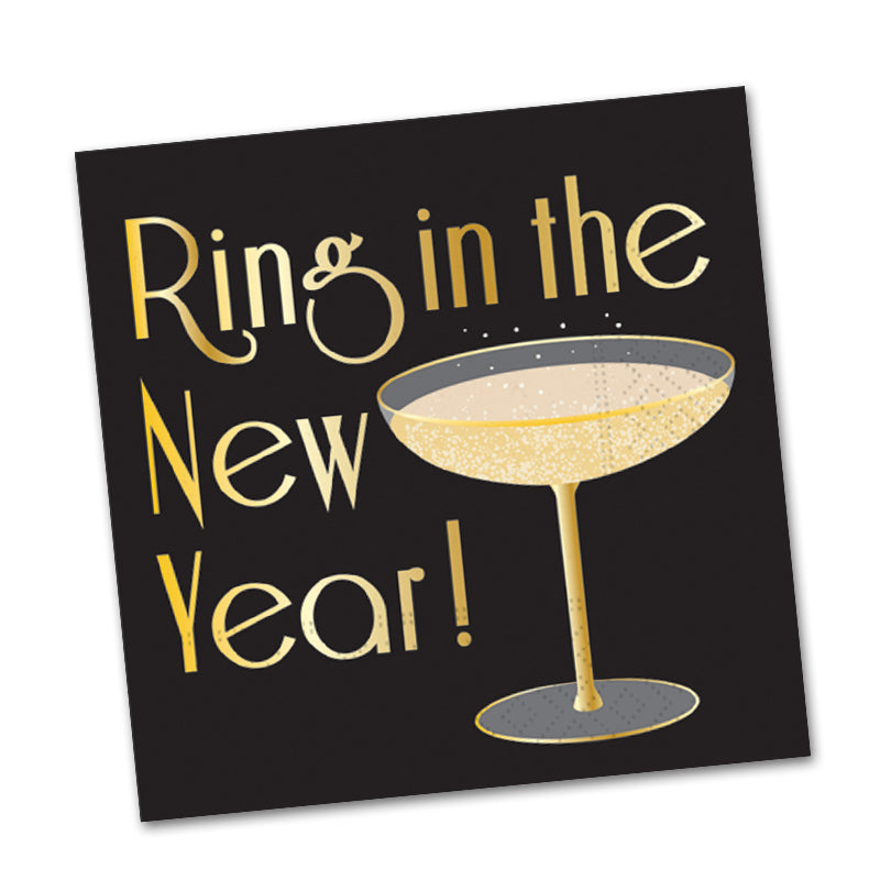 Ring in the Year! Cocktail Napkins