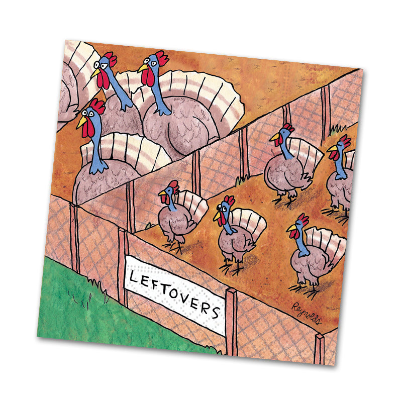 Leftovers Funny Thanksgiving Beverage Napkins