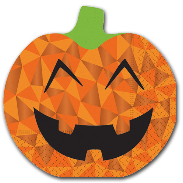 Jolly Jack-O-Lantern Die Cut Luncheon Napkins