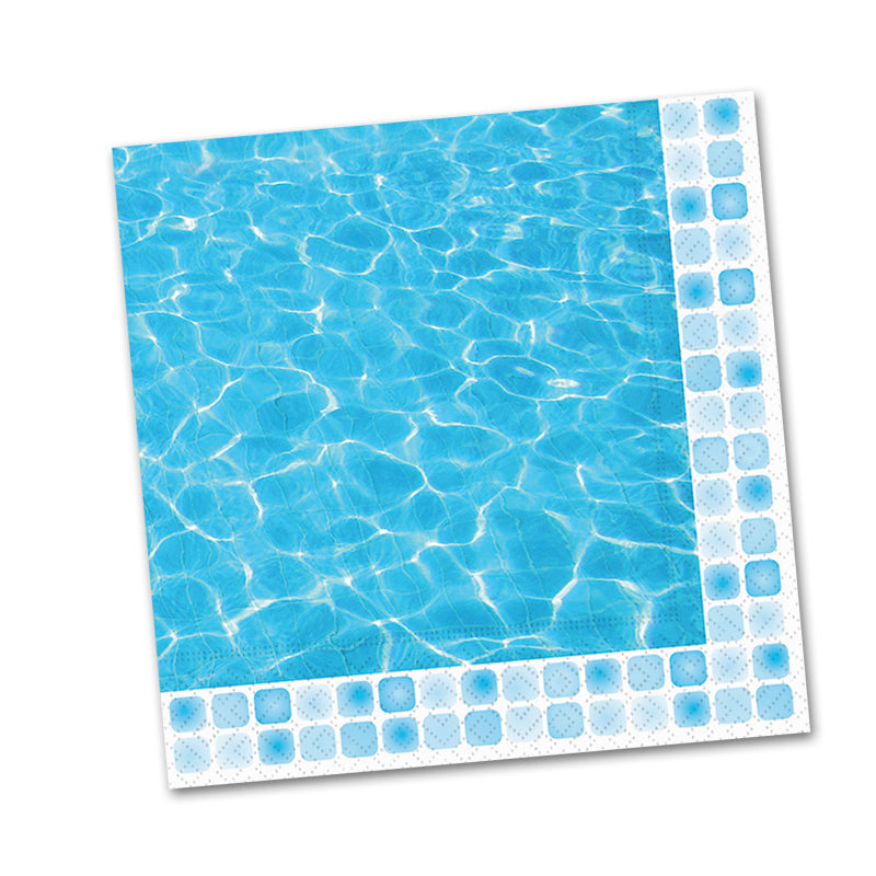 Poolside Paper Beverage Napkins
