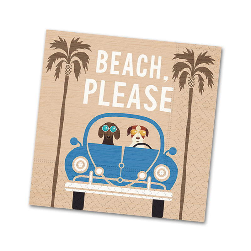 Beach Please, Funny Cocktail Napkins