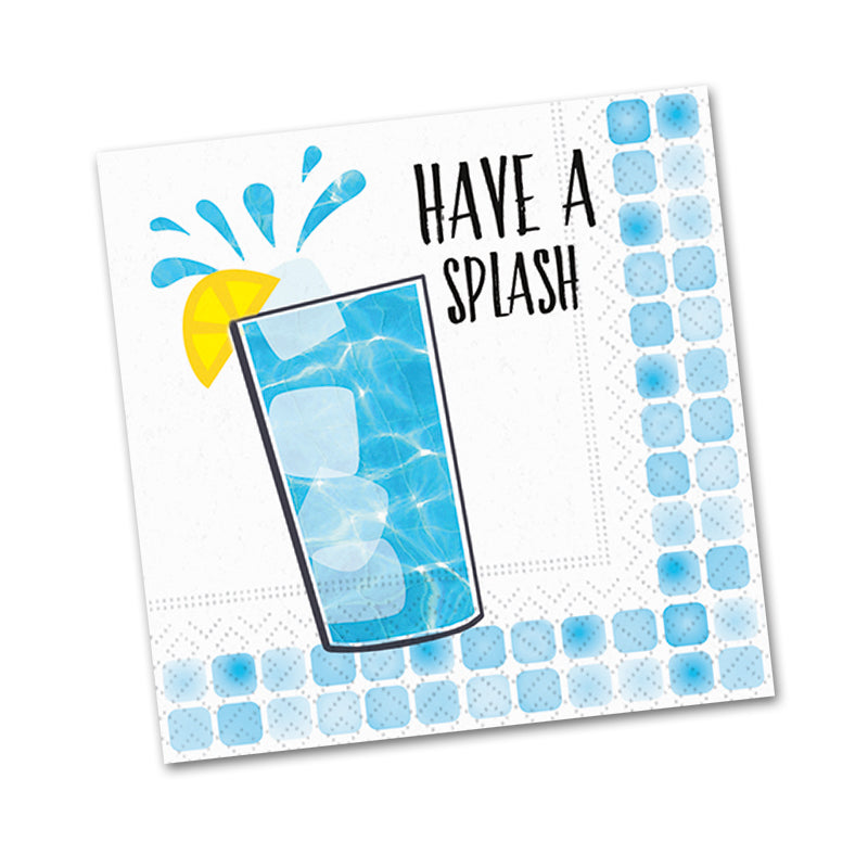 Have a Splash, Funny Cocktail Napkins