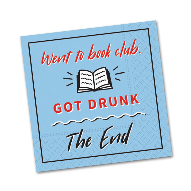 Went to Book Club, Funny Cocktail Napkins